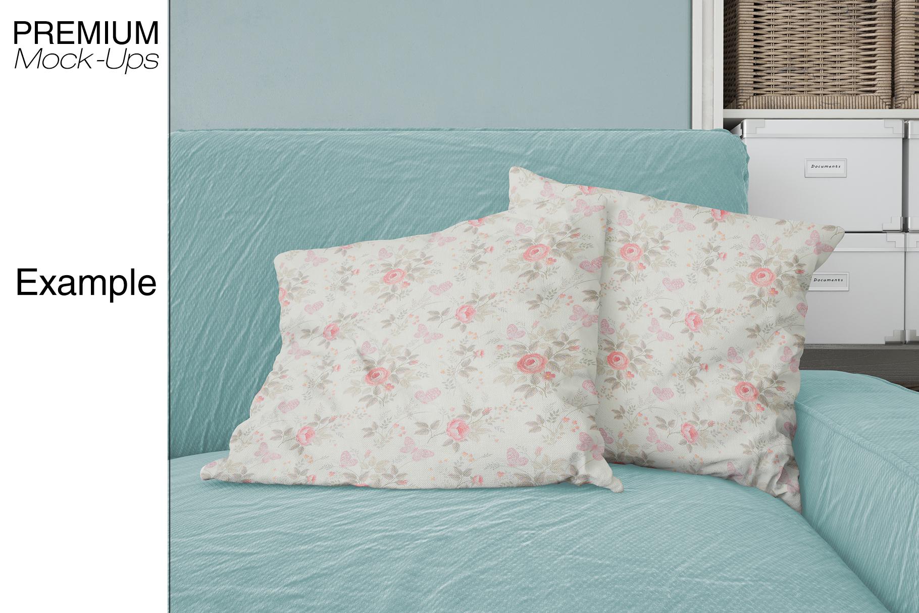 Pillows & Frames Mockup Set example image 21