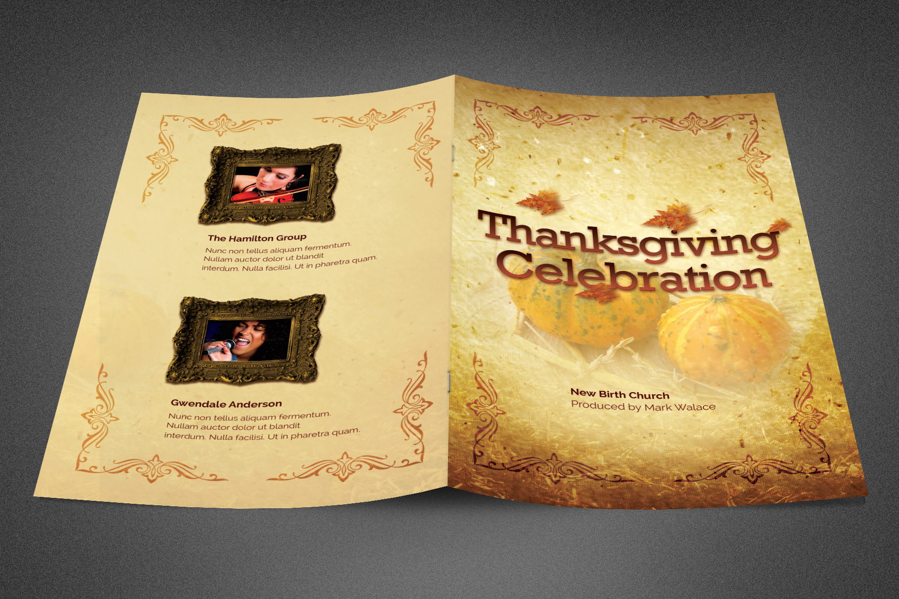 Thanksgiving Celebration Bulletin example image 2