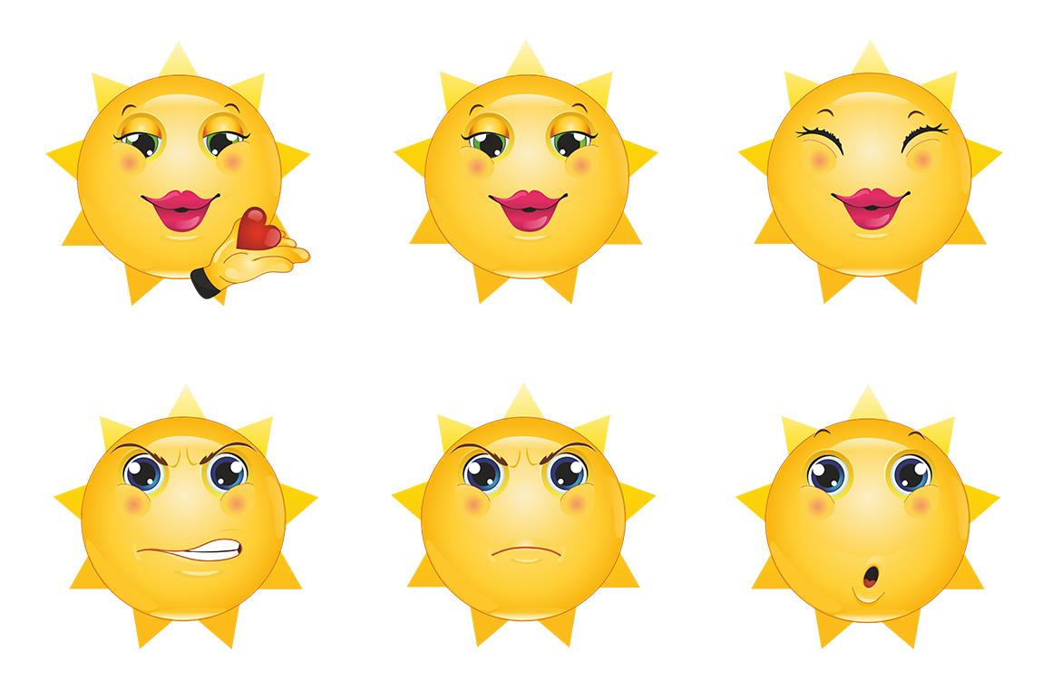 Emoticons Sun example image 10