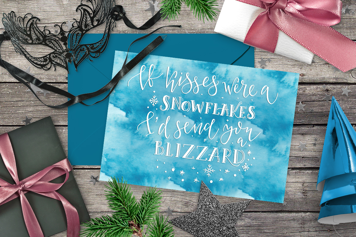 Winter Greetings Lettering Pack example image 2