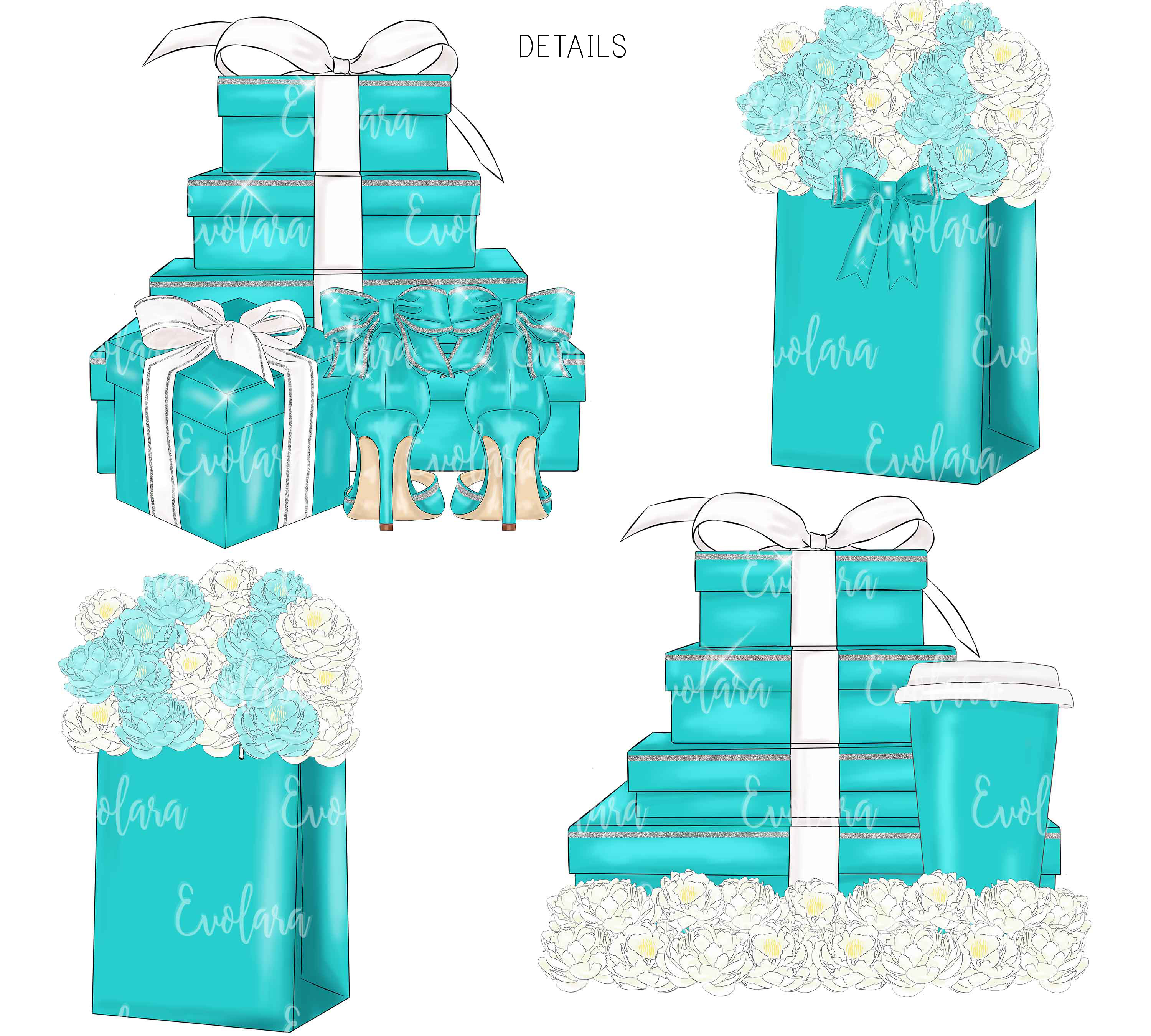 Blue Mint Clipart Fashion Illustrations Breakfast At Clipart example image 5
