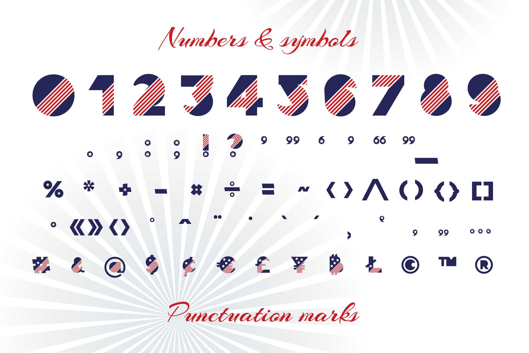 Patriot font family example image 7