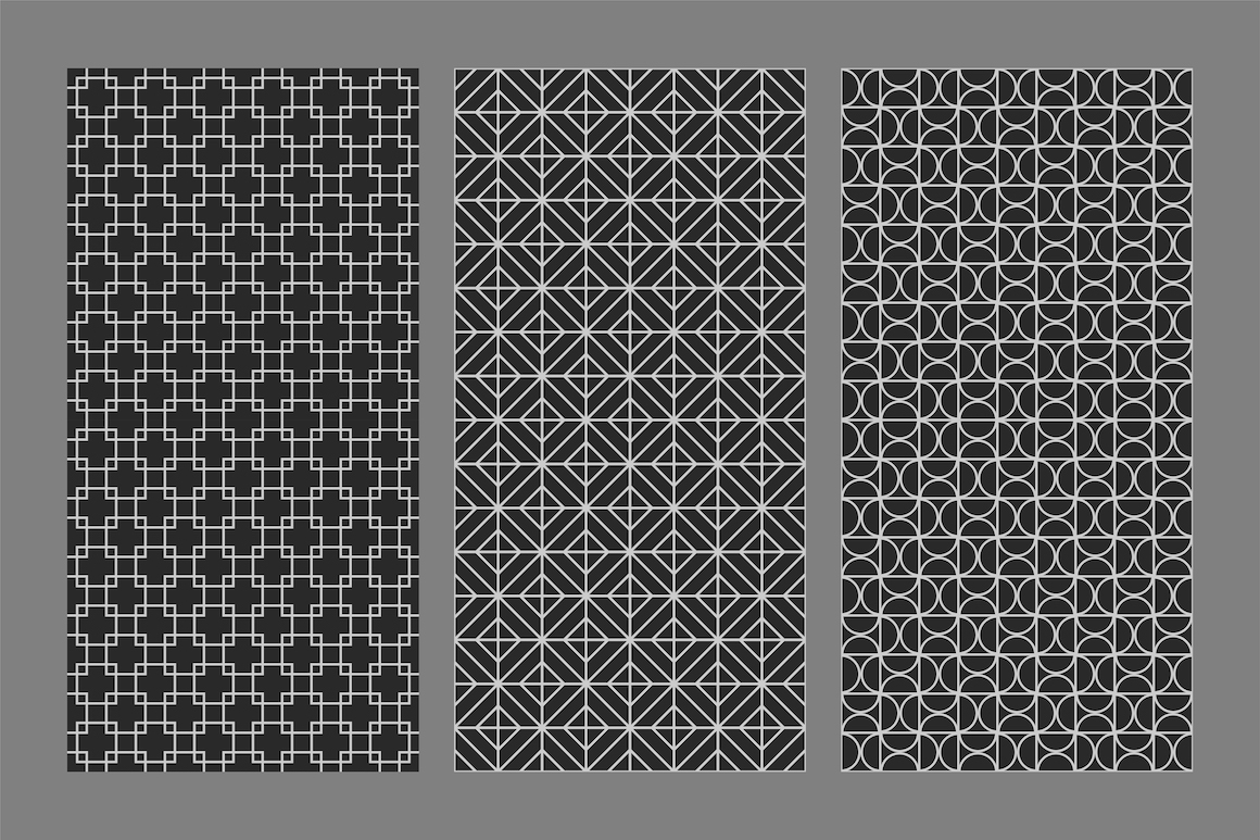 Vector seamless ornamental patterns example image 6