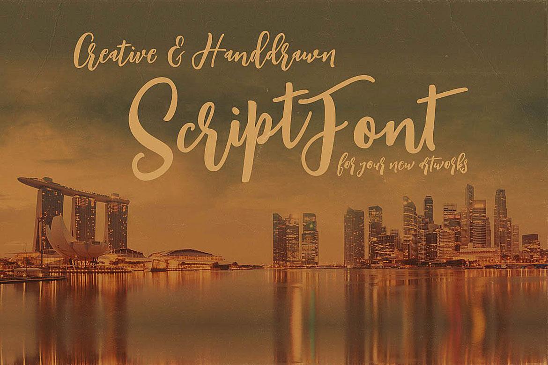 Singapore Script Font example image 2