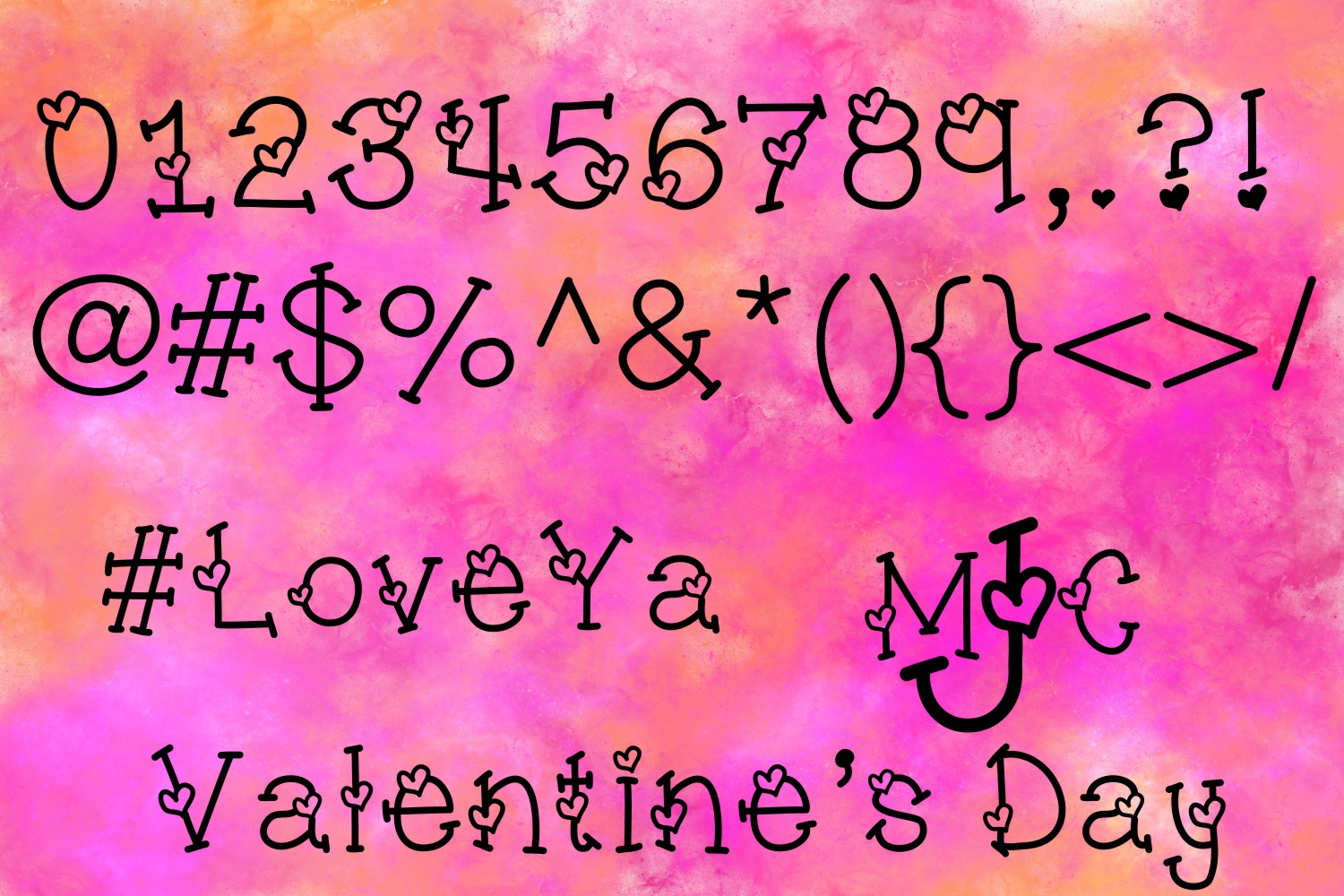 Sweetheart Hand Lettered Heart Font example image 3