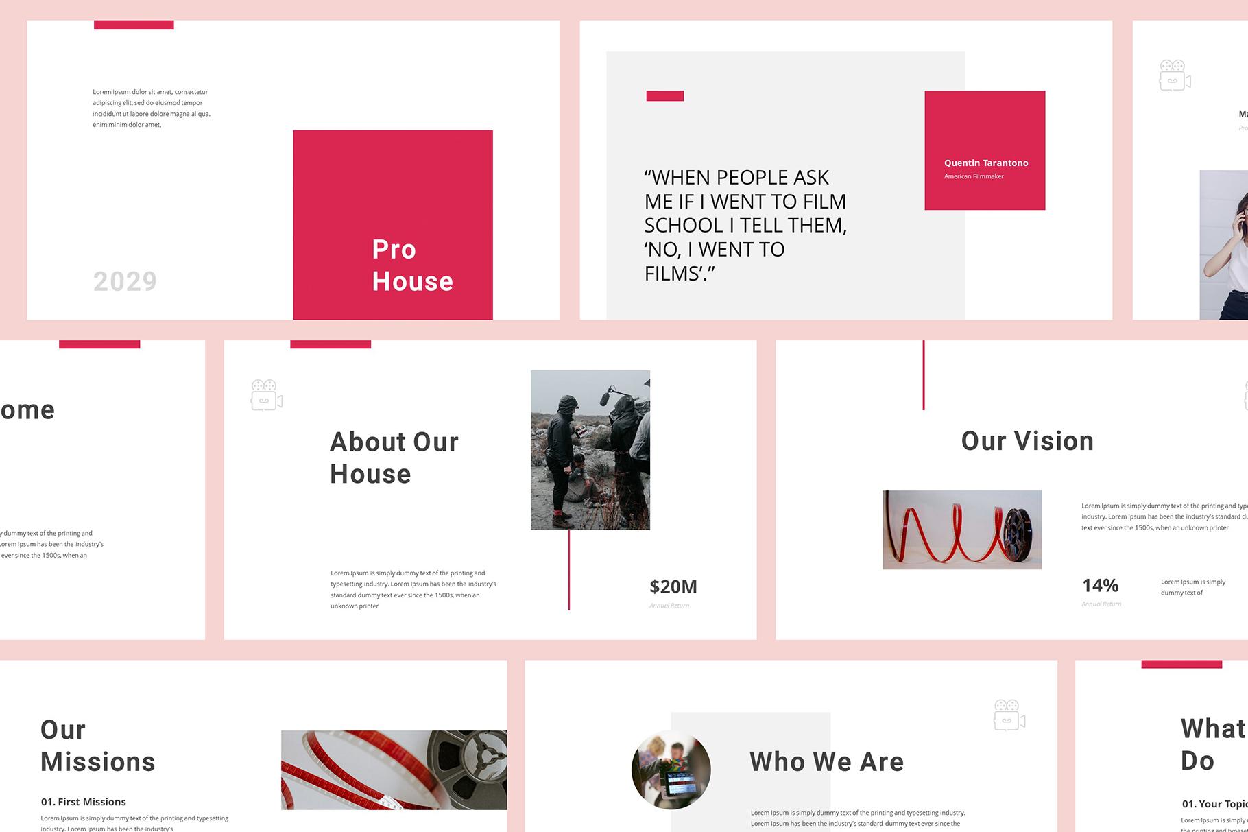 Production House Google Slides example image 2