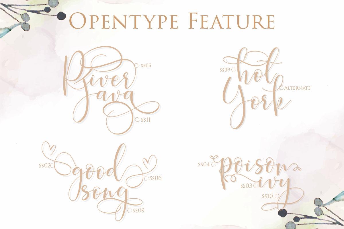 hokie   Beauty Stylistic Calligraphy example image 6