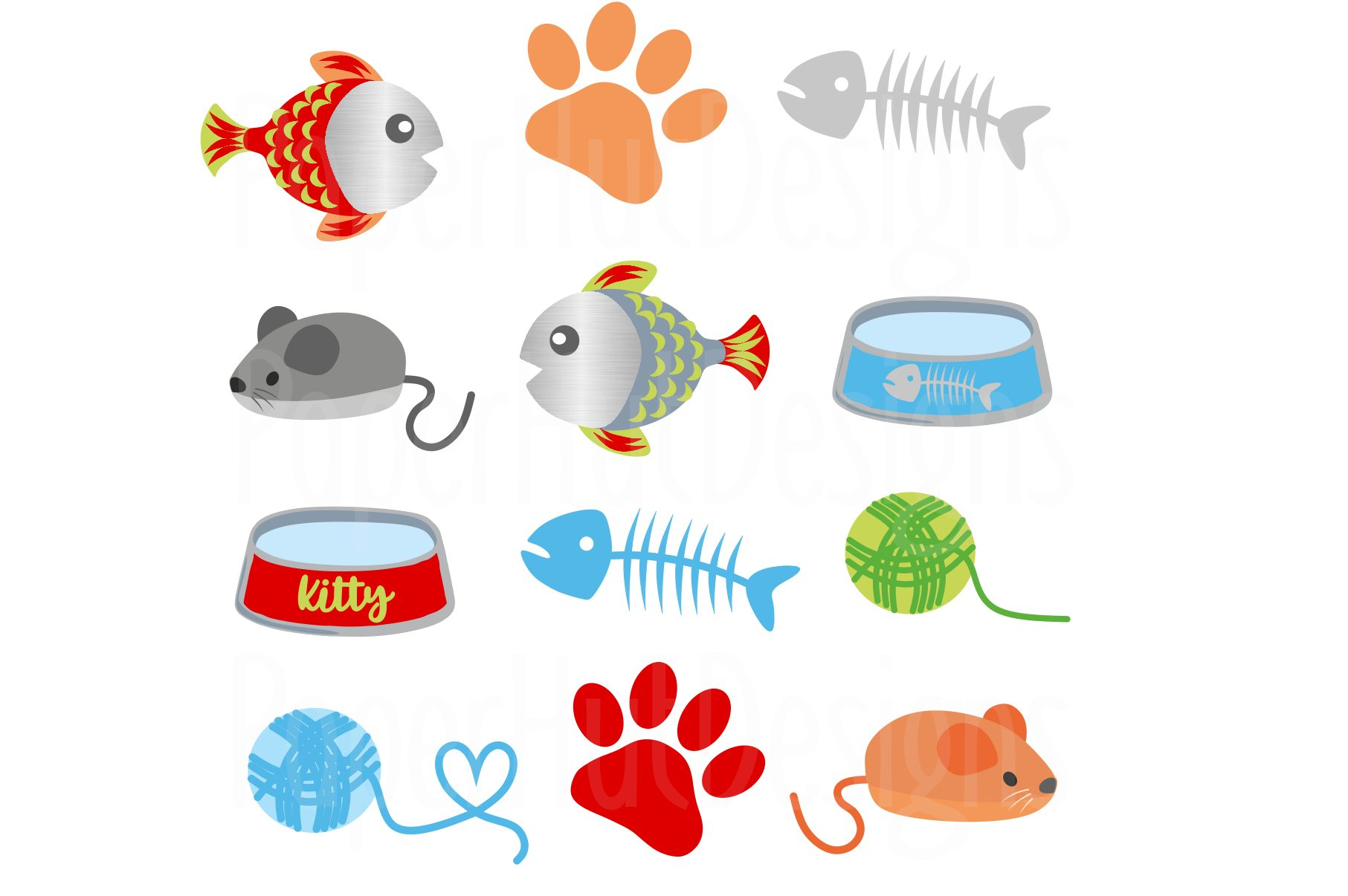 Cute Cat Clipart example image 3