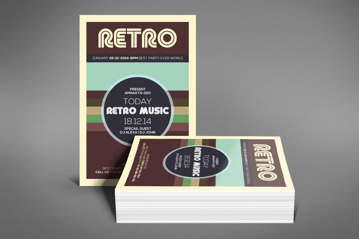 Retro Music Flyer example image 4