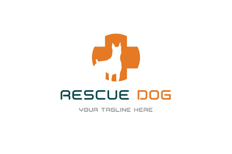 Dog in Plus Sign Logo example image 1