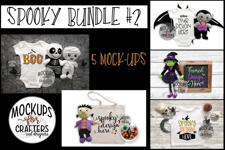 Halloween, SPOOKY MOCK-UP Bundle #2 - FIVE MOCK-UPS example image 1