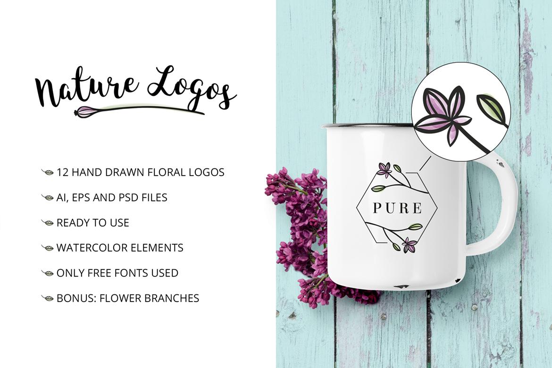 Nature & floral logos + BONUS example image 2