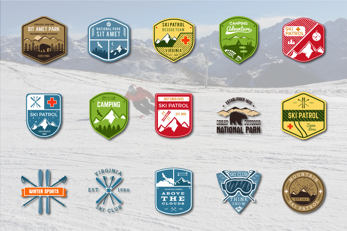 70% OFF Adventure Graphics Pack / Retro Logos Set / SVG's Collection / Icons example image 4