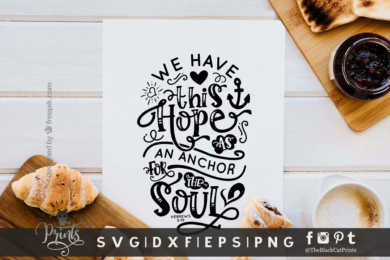 Hope Is An Anchor For The Soul SVG DXF EPS PNG| Easter svg example image 2