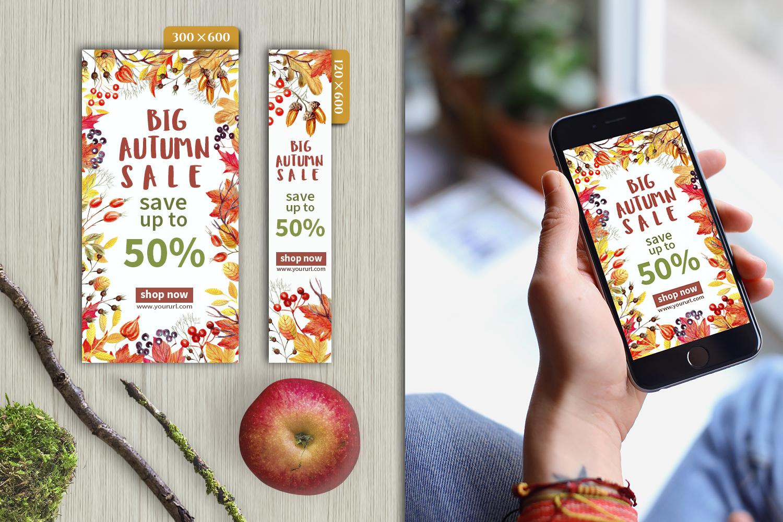 Autumn Sale Web Banners Set example image 3