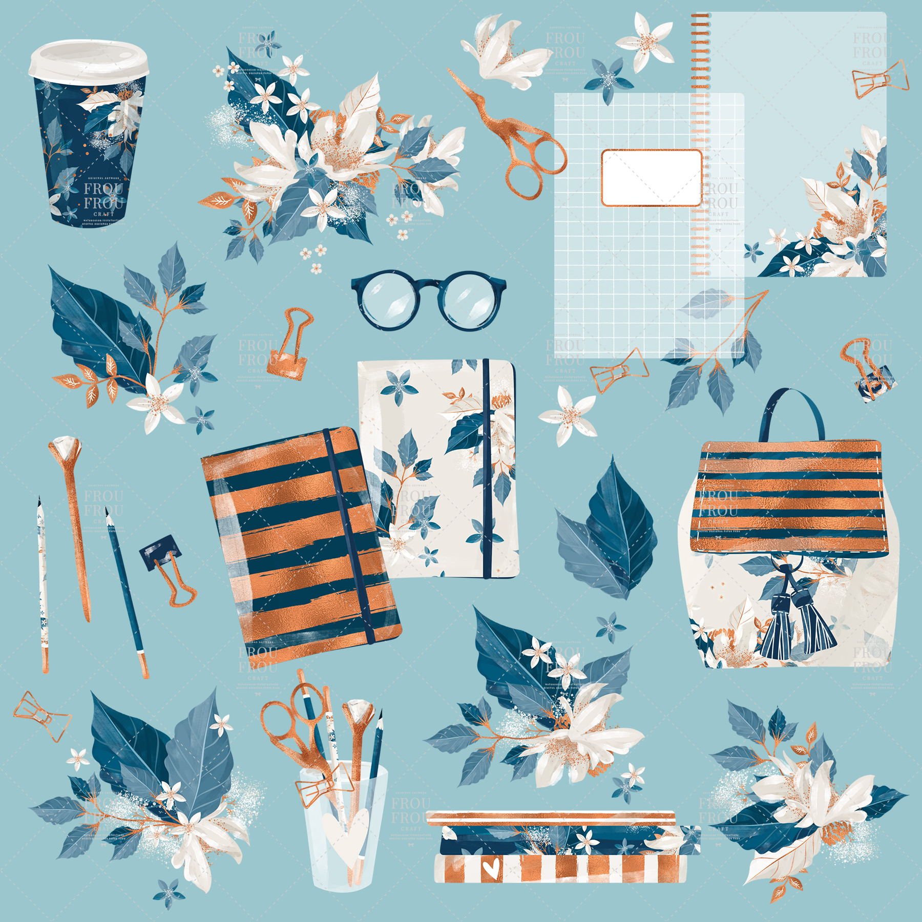 Planner Stationery School Fall Clip Art example image 3