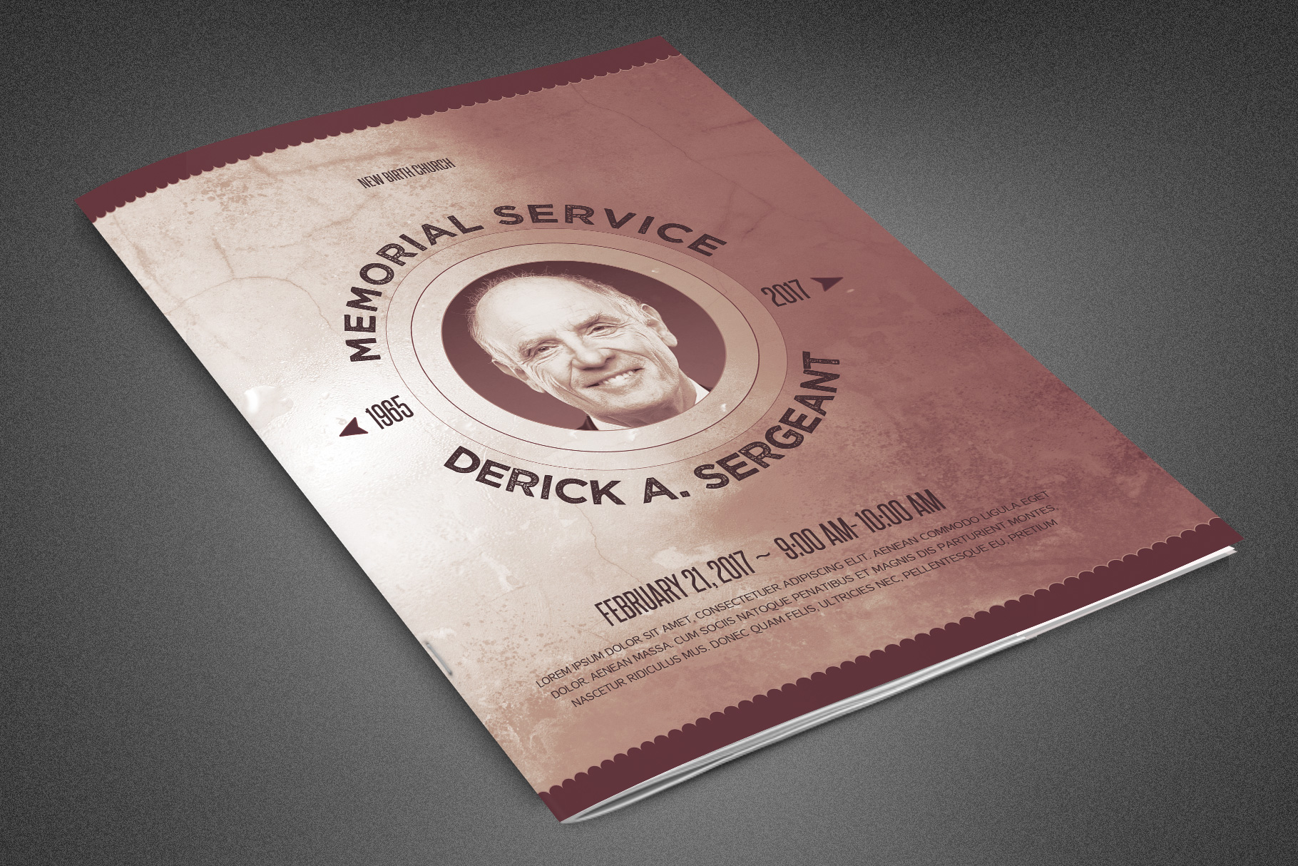 Chronicle Funeral Program Template example image 1