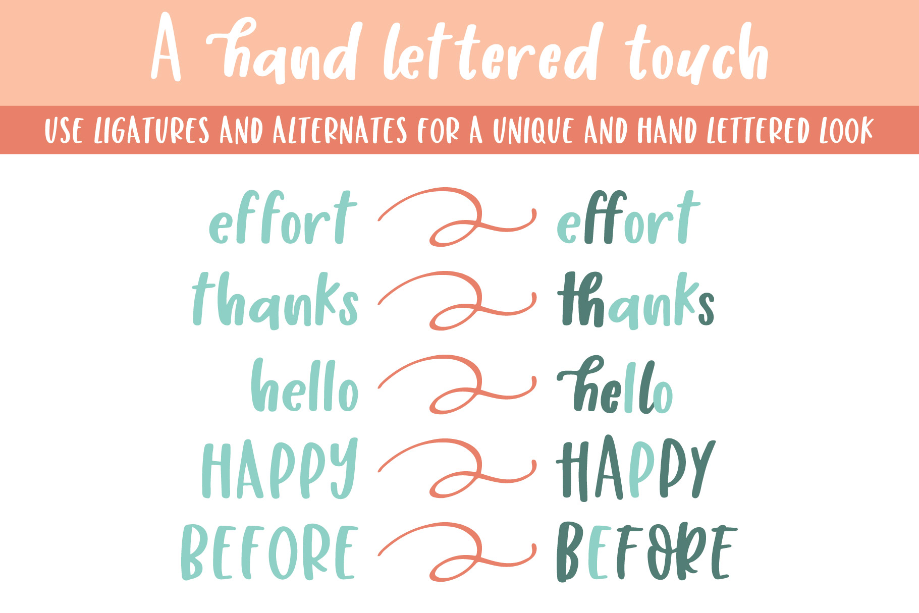Honey Suckle, A Fresh Hand Lettered Font example image 6