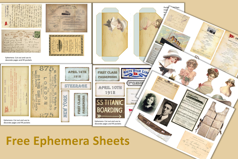 Titanic Journaling Kit with free ephemera JPEG, PDF and PNG example image 2