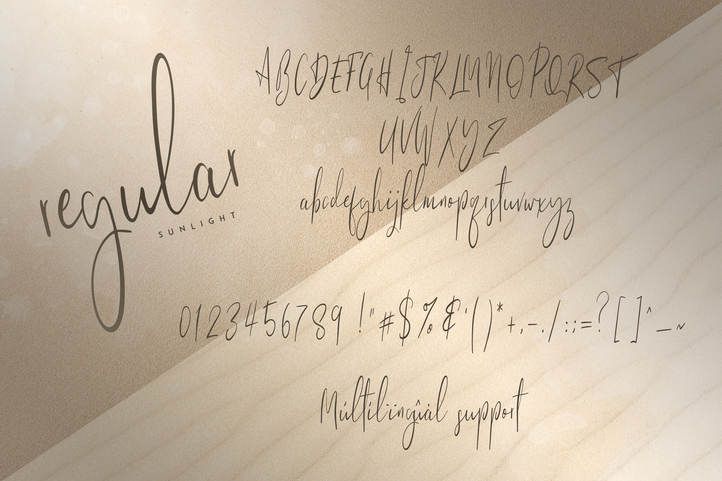Sunlight - Signature typeface example image 9
