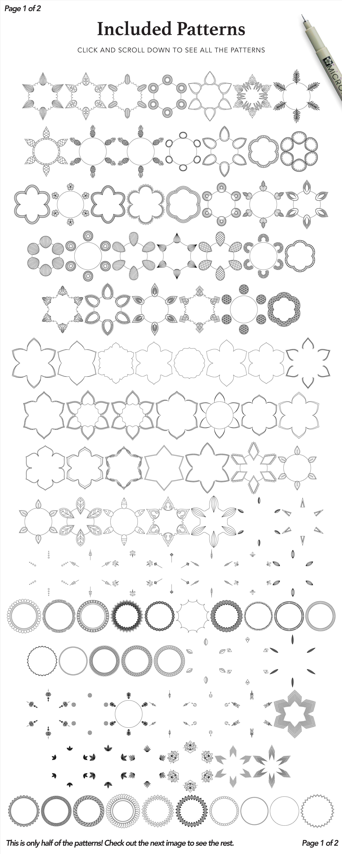 Zentangle Mandala Creator Addon for Illustrator example image 4