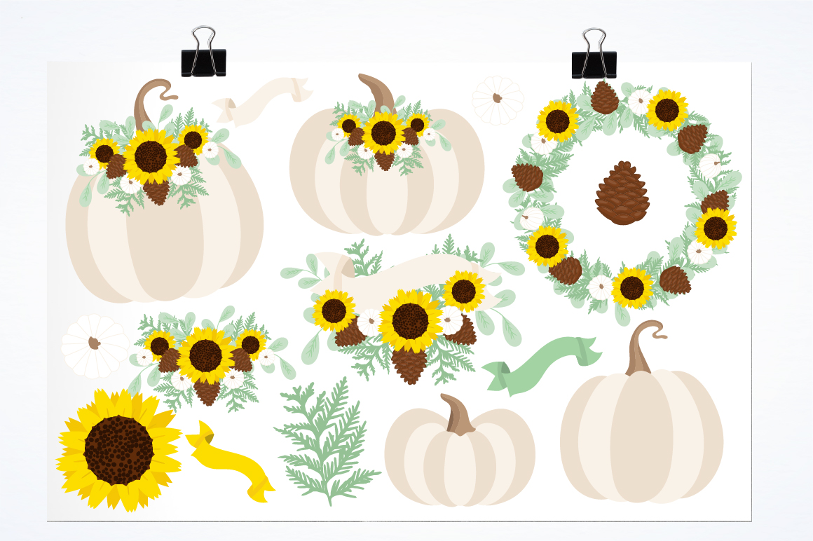 Fall Wreaths graphics and illustrations example image 2