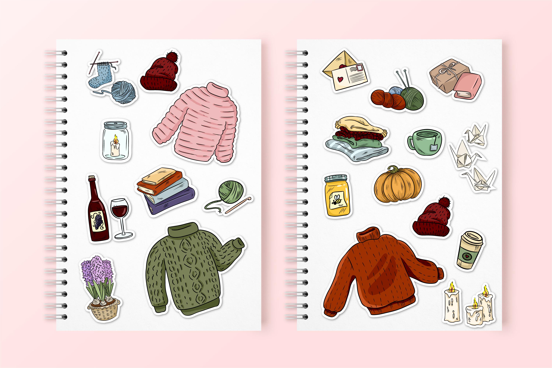 Cozy Sweaters Sticker Set example image 2