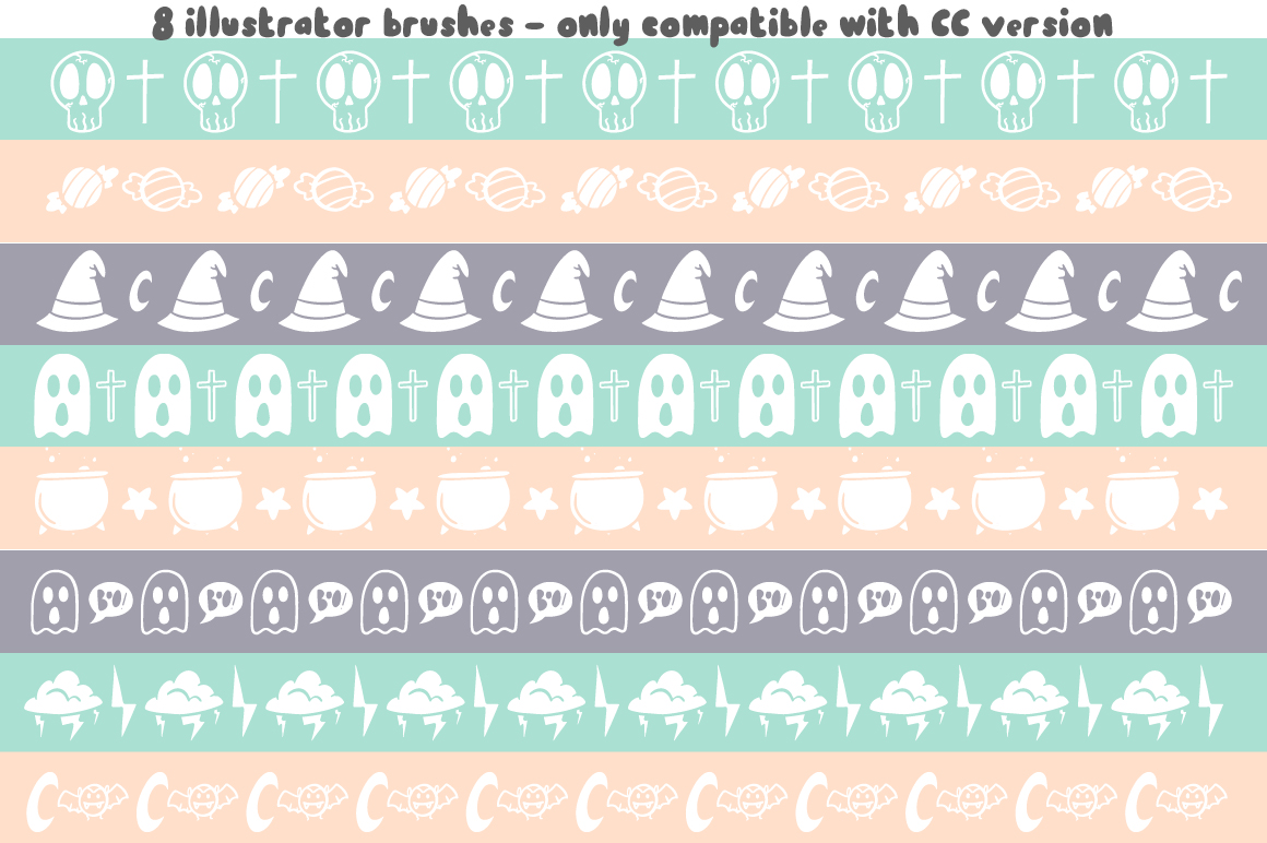 Dark font patterns, brushes and more! example image 7