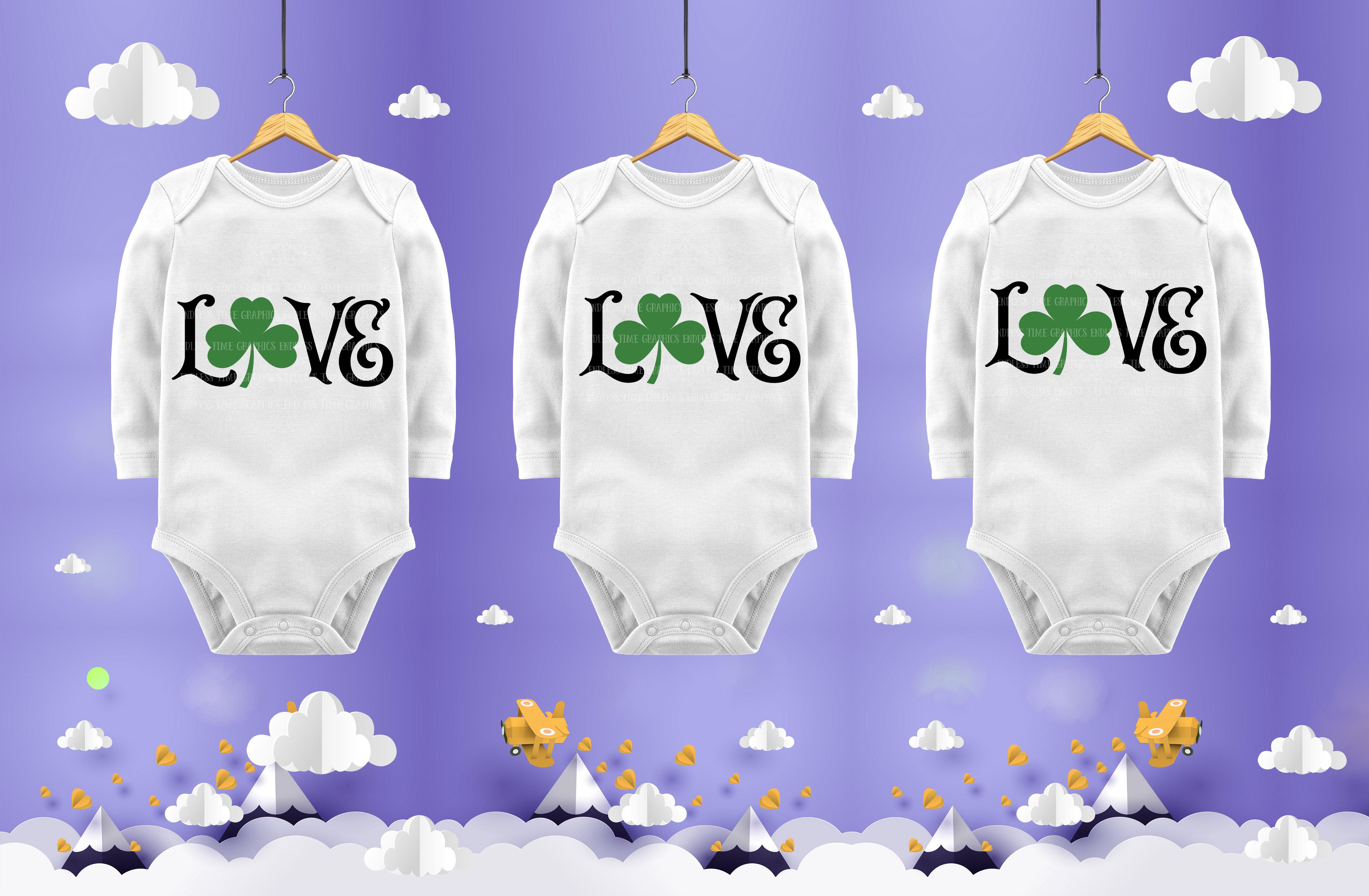 Love Shamrock SVG Cut File example image 2