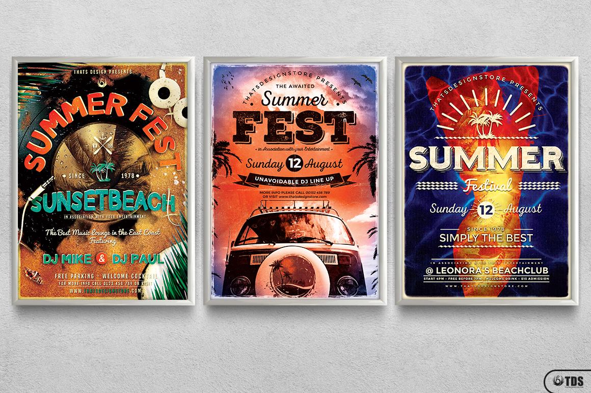 Summer Fest Flyer Bundle example image 11