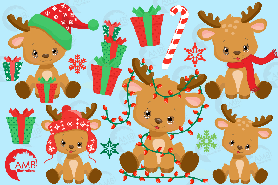Santa's Baby Reindeer AMB-2288 example image 3