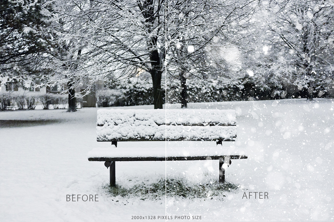 Real Snow Photoshop Action example image 4