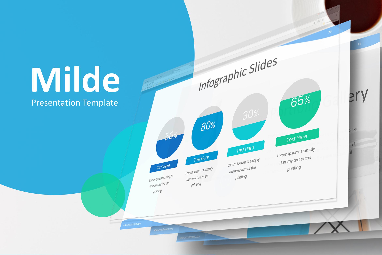 Milde - Multipurpose Powerpoint Presentation Template example image 2