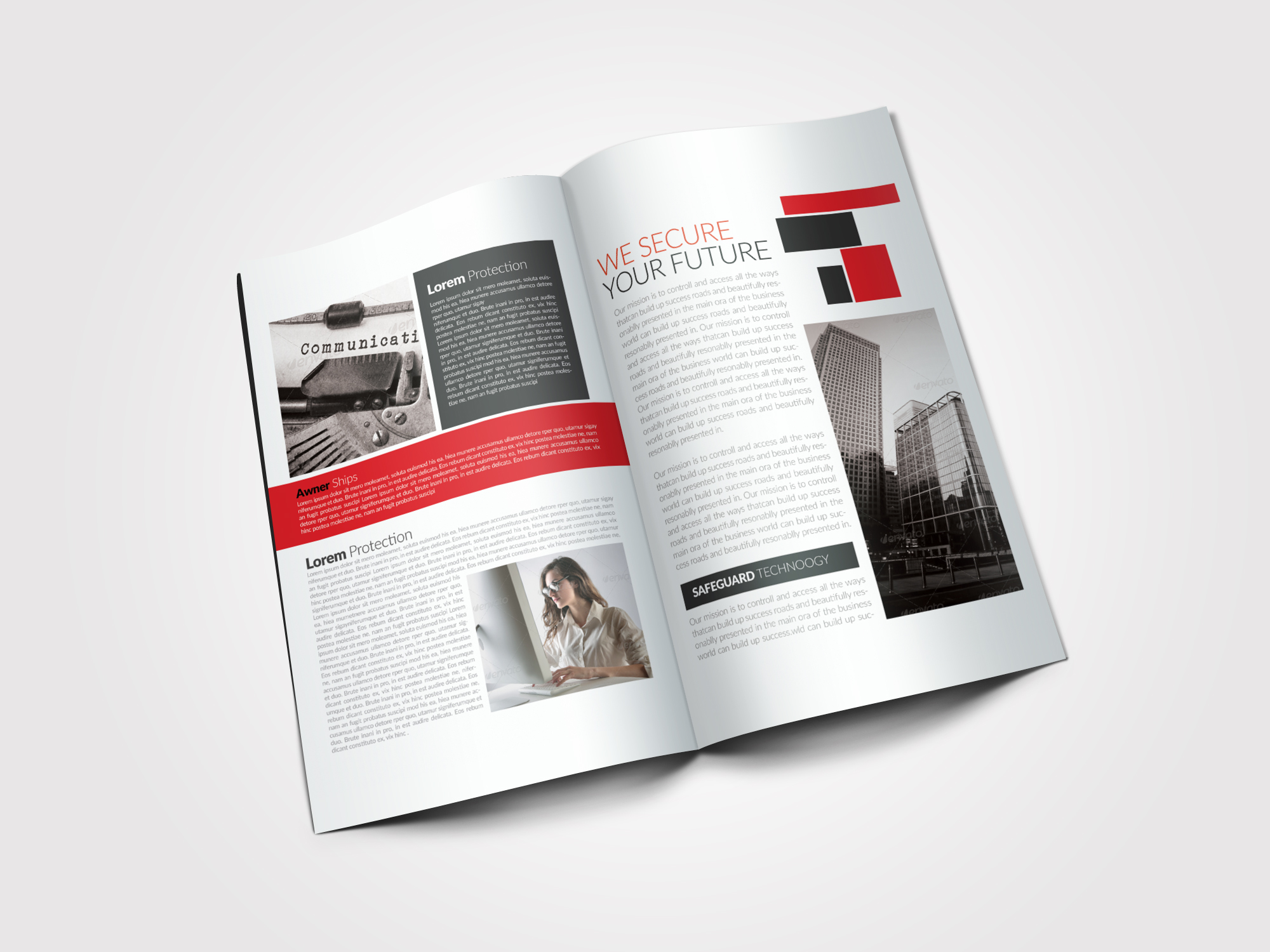 Business Dealing Bifold Brochure example image 5
