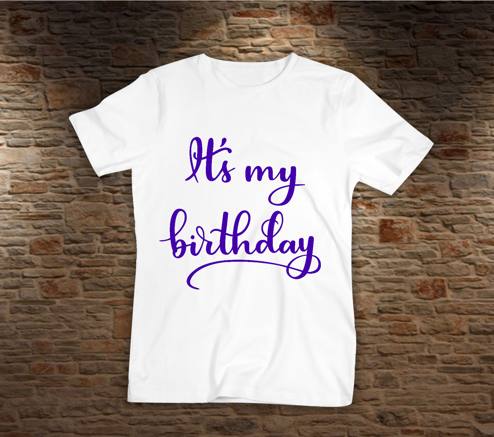 Birthday SVG - It's my birthday cut file, Handlettered example image 3