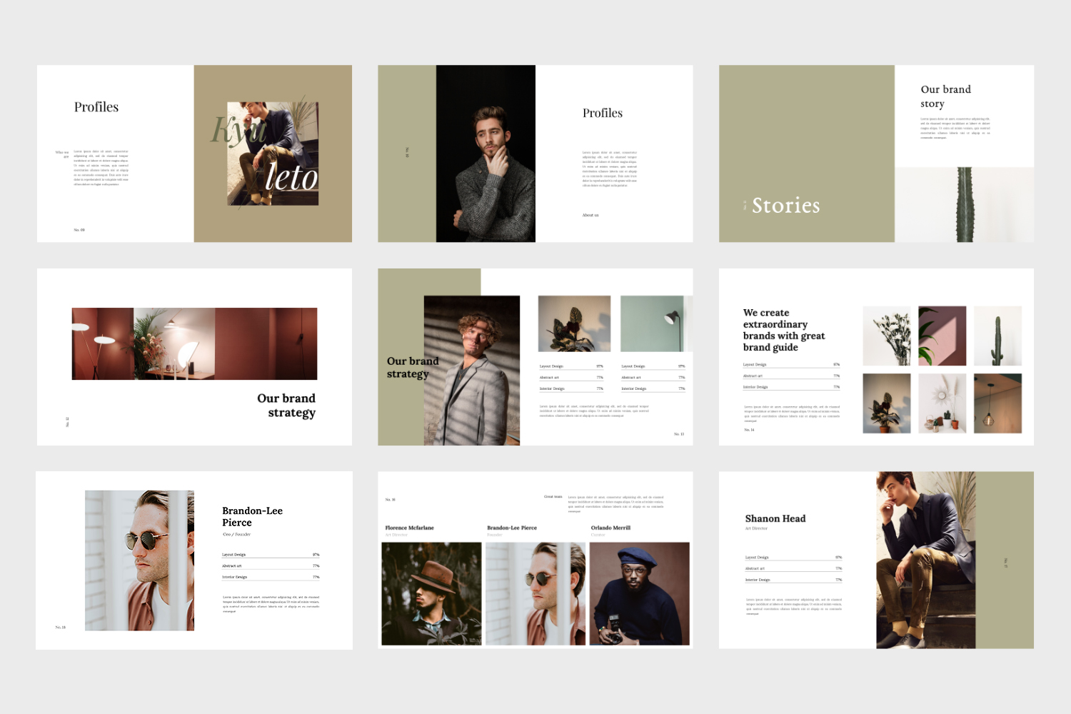 Kyuleto - Keynote Brand Guidelines Template example image 5