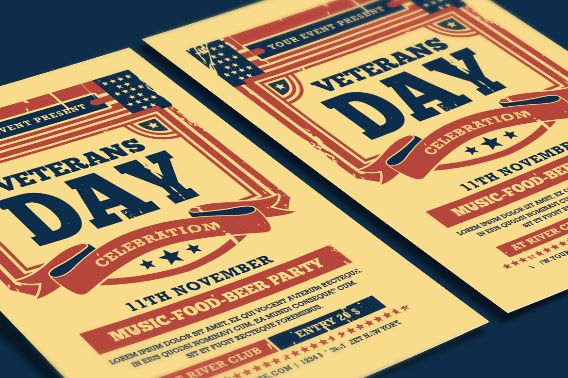 Veterans Day Flyer example image 3