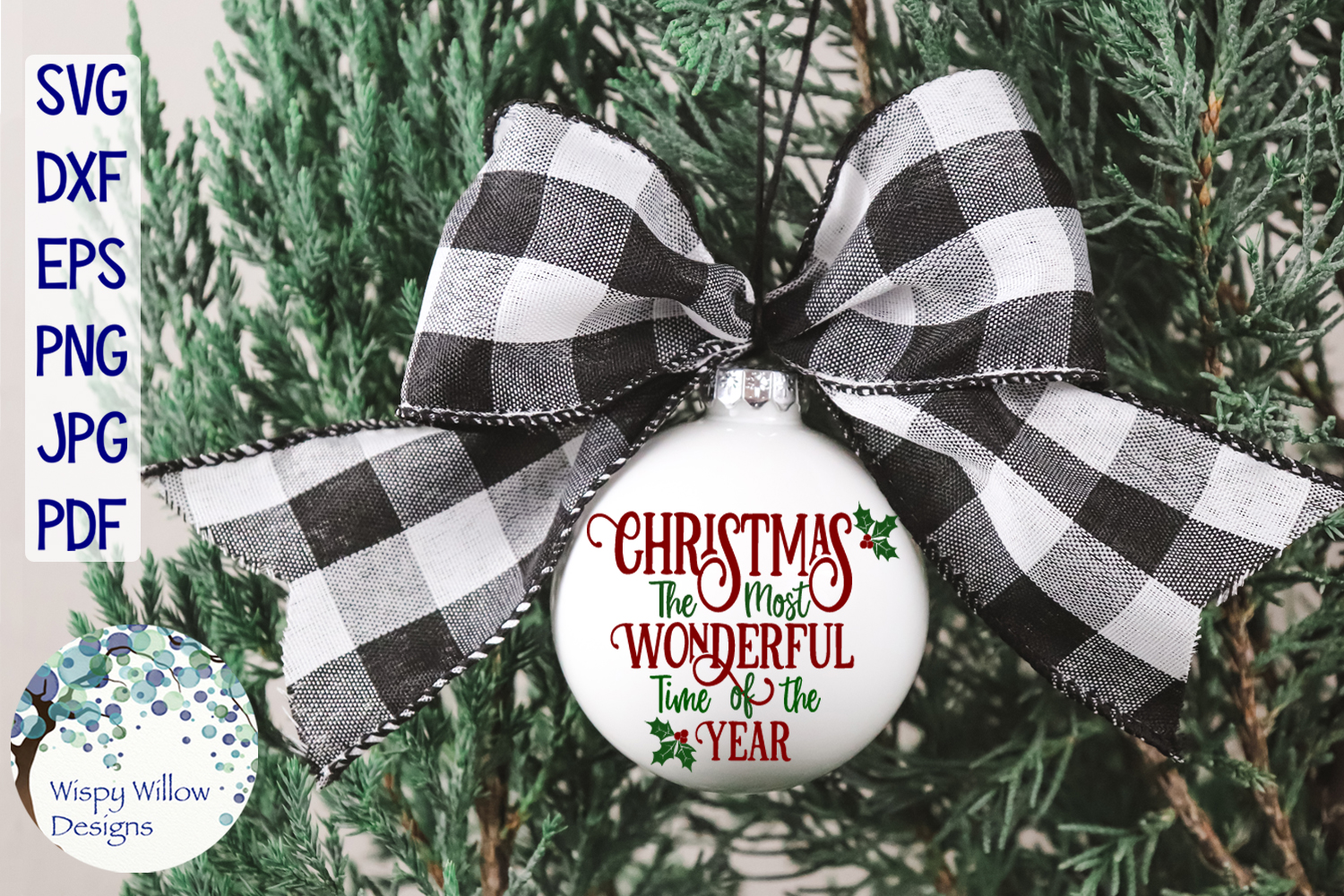 Christmas The Most Wonderful Time Of The Year SVG Cut File example image 2