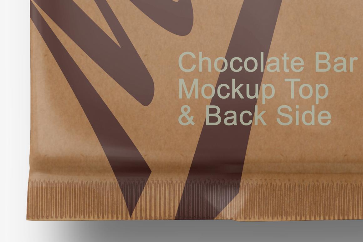 Chocolate Kraft Bar Mockup Top & Back Side View example image 4