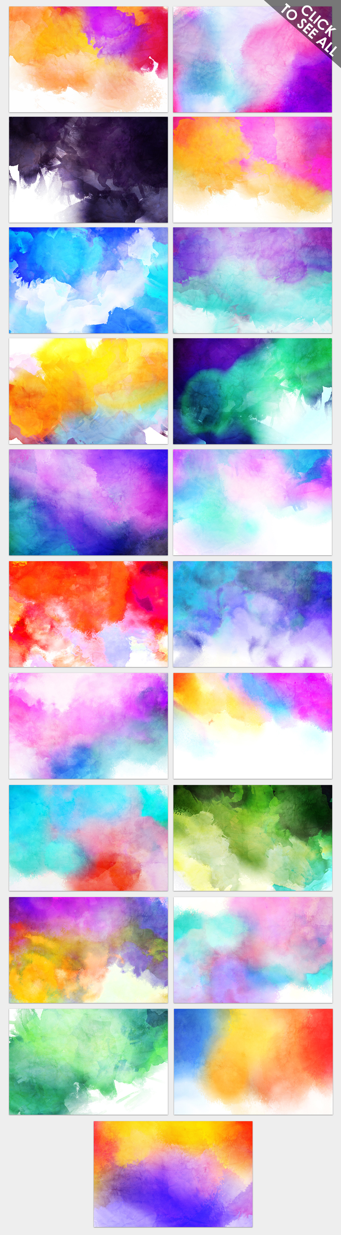 Only Watercolor Backgrounds Bundle example image 19