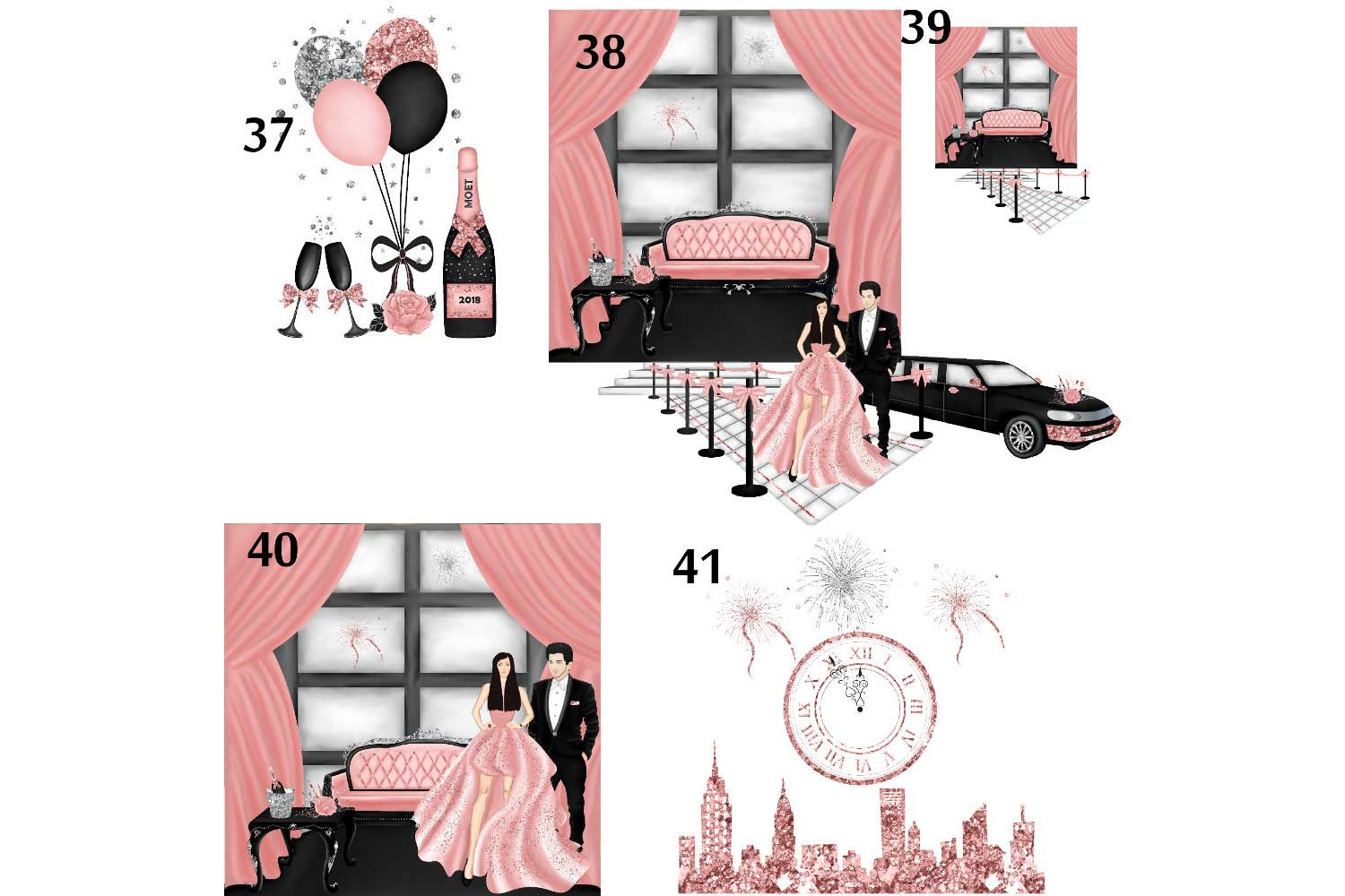 New Years Eve Clipart example image 6