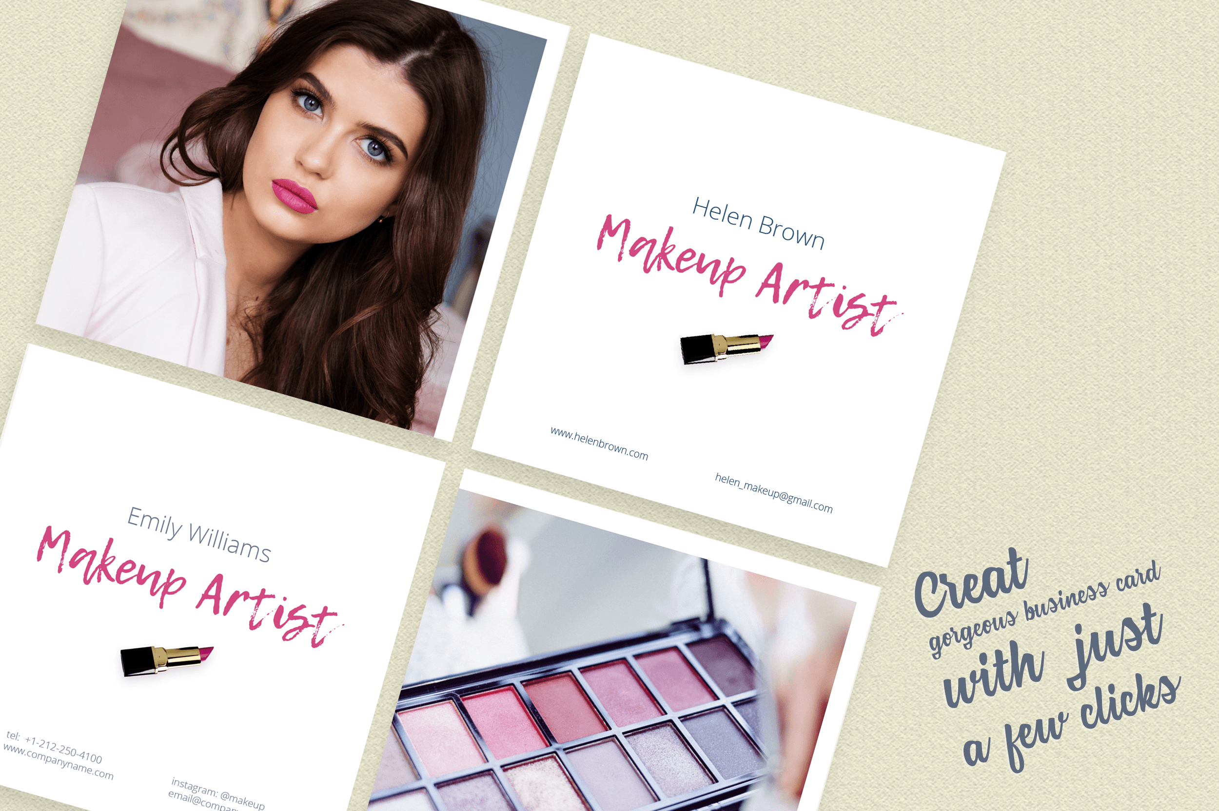 Makeup Artist Business Card Template example image 5