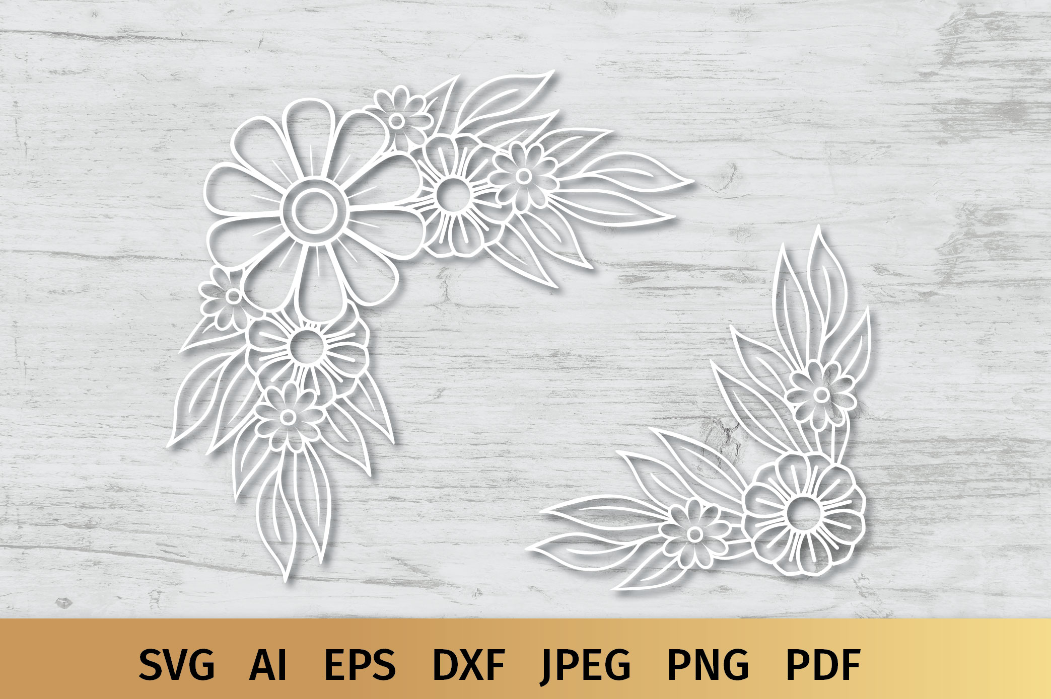 Floral Border and Corner Svg example image 5