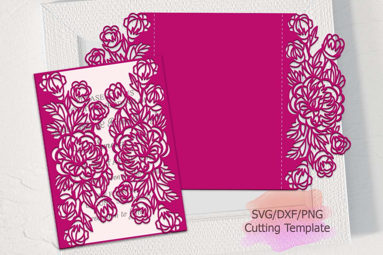 peonies gate svg invitation wedding in  design bundles