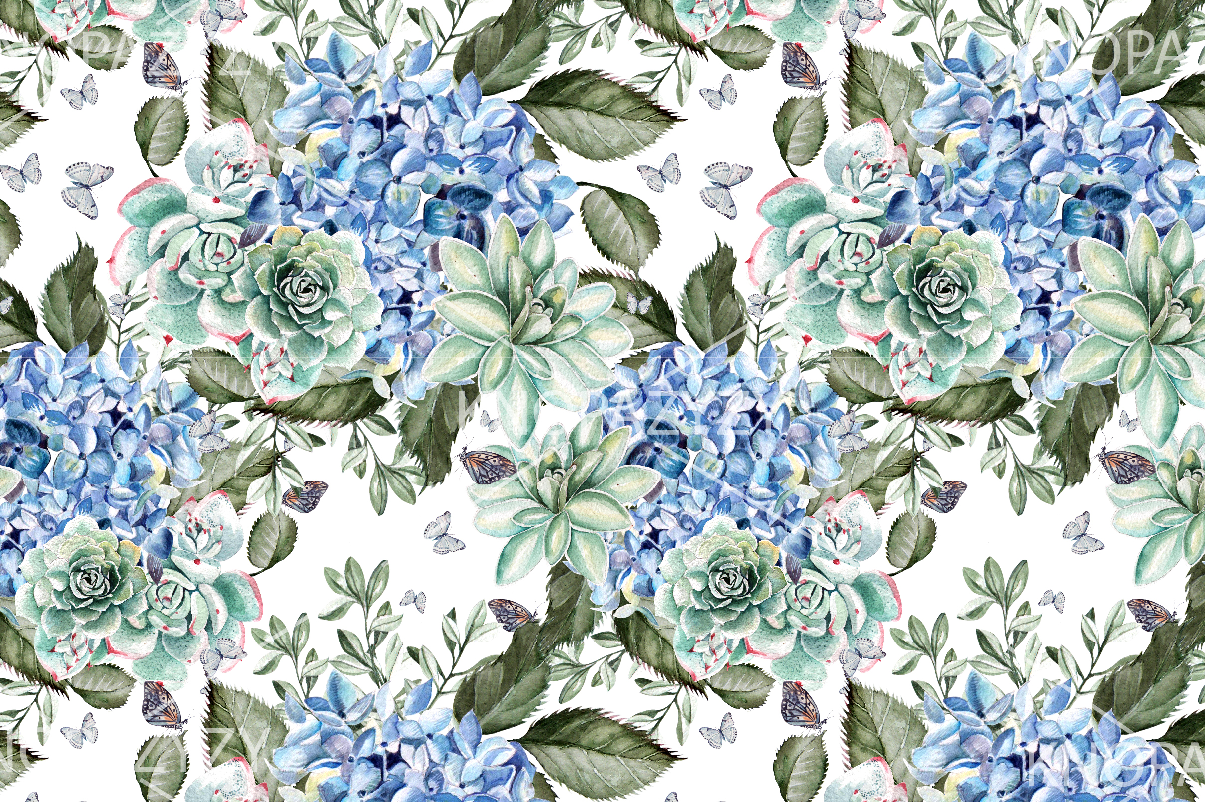9 Hand Drawn Watercolor PATTERNS example image 8