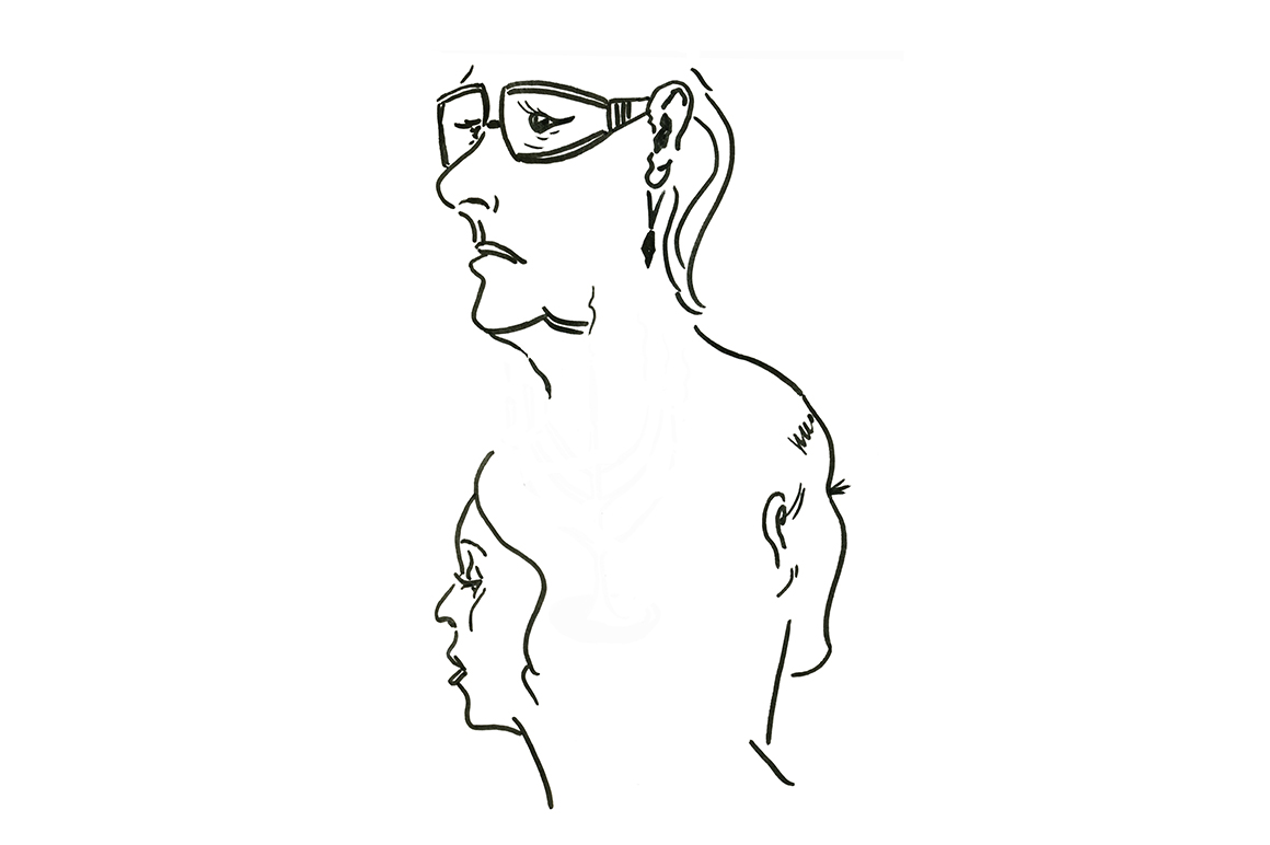 Sketch the face of a woman at different ages example image 1