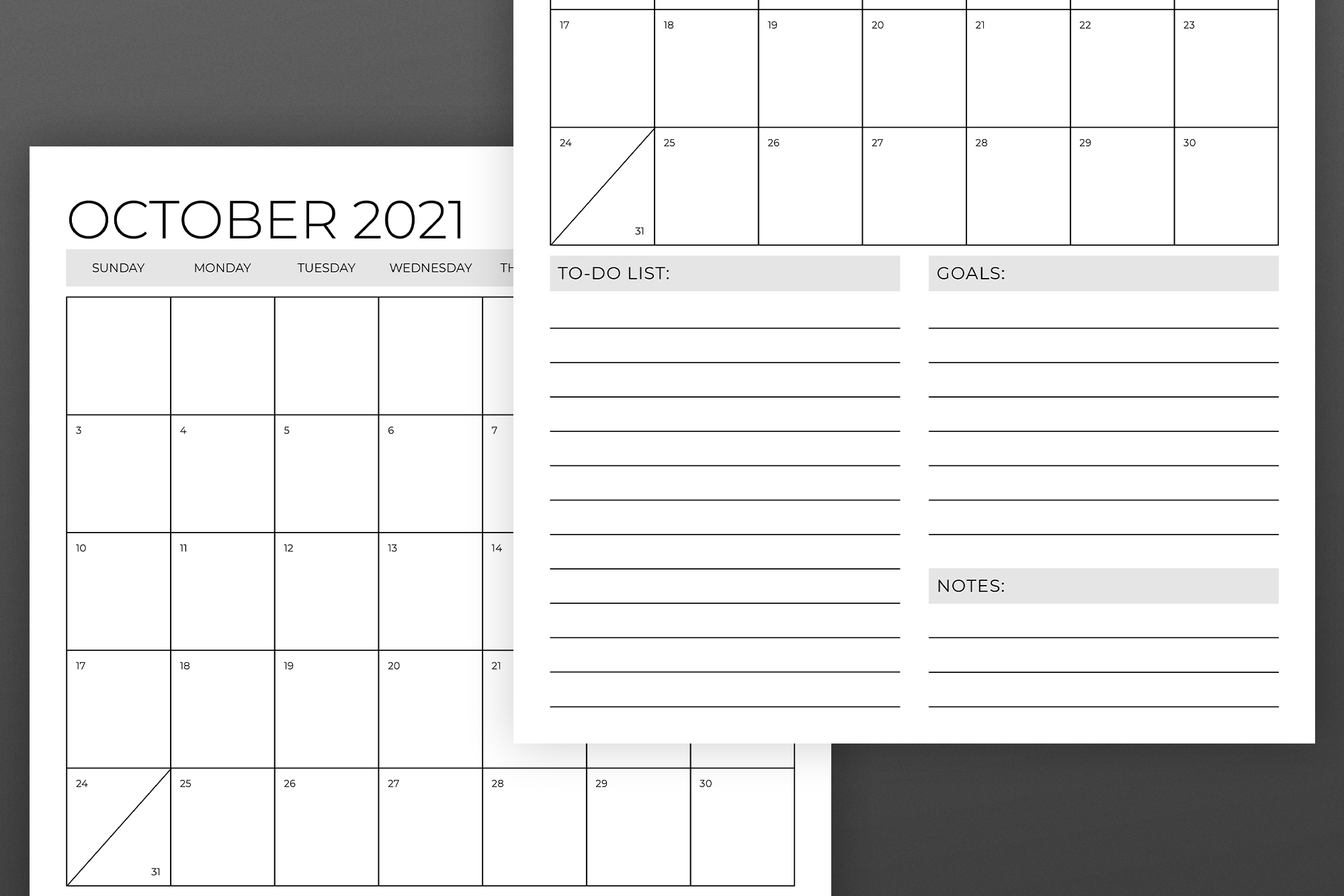 Vertical 11 x 17 Inch 2021 Calendar example image 6