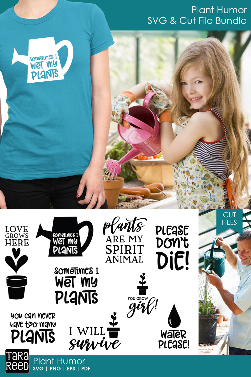 Plant Humor SVG and Cut Files for Crafters example image 3