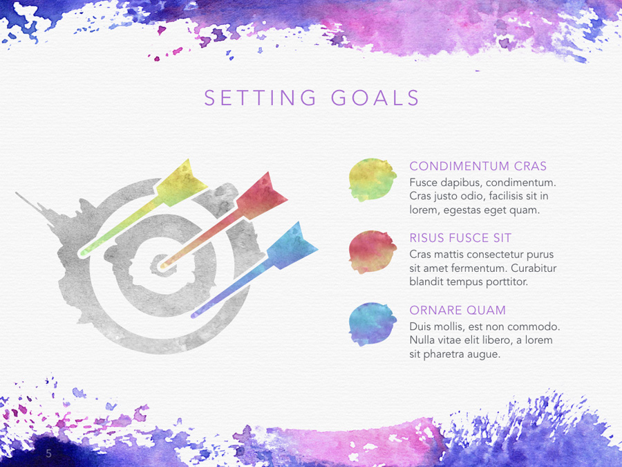 Watercolor PowerPoint Template example image 5