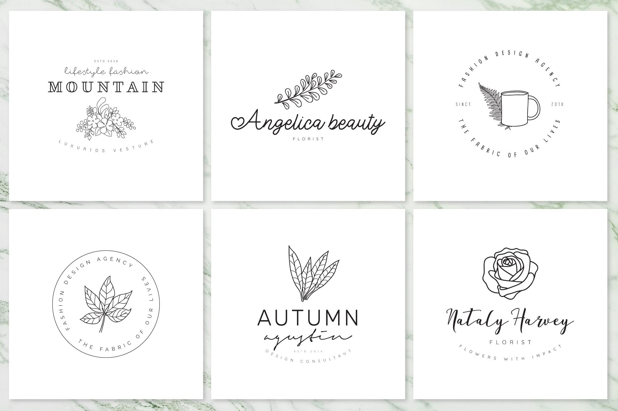 Feminine Branding Premade Logos V02 example image 8